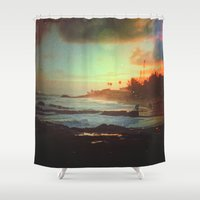 paradise Shower Curtains featuring Paradise by Polishpattern