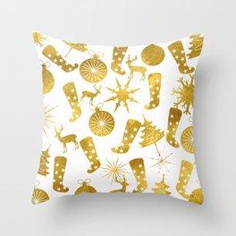 Gold Christmas 06 Throw Pillow