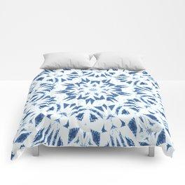 Snowflake Denim & White Comforters