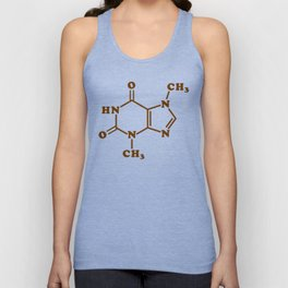 Chocolate Theobromine Molecule Chemical Formula Unisex Tank Top