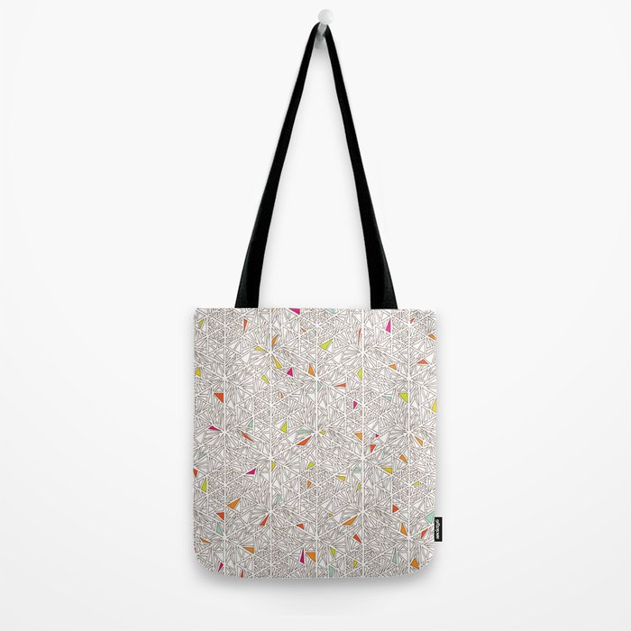 Little Triangles Pattern Tote Bag