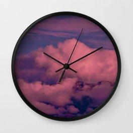 Winter Storm Clouds Wall Clock