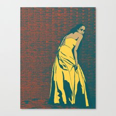 Lady in Yellow Dress Canvas Print