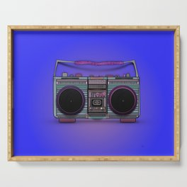 colorful boombox Serving Tray