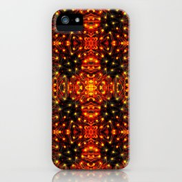 Red Yellow Sparkling Pattern iPhone Case