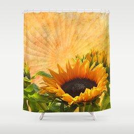 Good Morning Sunflower Shower Curtain
