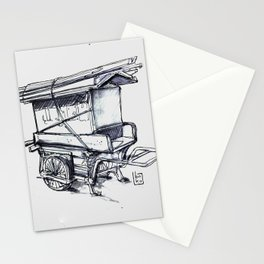 japan wood cart Stationery Cards