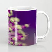 lime green Mugs featuring Purple and Lime Green by Amelia Kay Photography