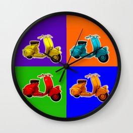 Vespa Vespa Vespa Vespa Wall Clock