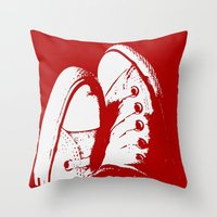 converse Throw Pillows featuring Converse by Dawn East Sider