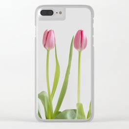 Rose tulips Clear iPhone Case