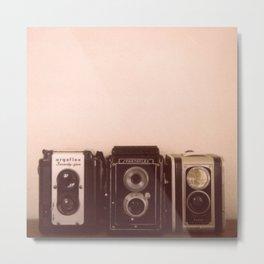 Three Cameras Metal Print