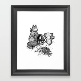 Lonely Red Riding Hood Framed Art Print