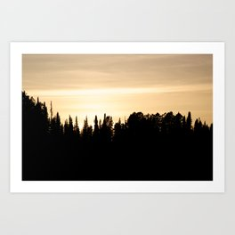 Whyoming Sunset Art Print