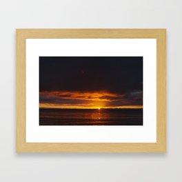 winter sunrise in abel tasman Framed Art Print