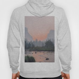 Yosemite Valley Sunrise Pretty Pink Hoody