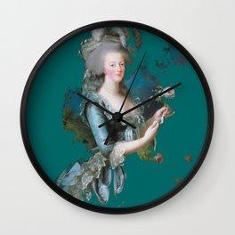 marie Antoinette teal Wall Clock