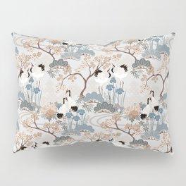 Japanese Garden Gray Pillow Sham