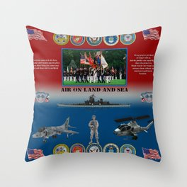 Armed Forces poster #AmericanPride #sot Throw Pillow