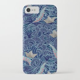 Octopus Origami Boats iPhone Case