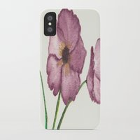 burgundy iPhone & iPod Cases featuring Burgundy Poppies by trabie