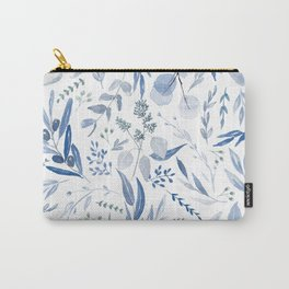 Eucalyptus Pattern - Blue Carry-All Pouch