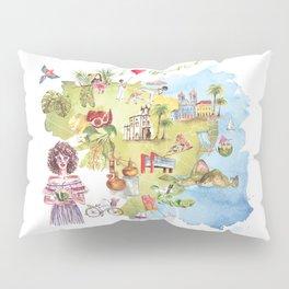 Brasil Map Pillow Sham