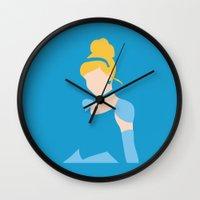 cinderella Wall Clocks featuring Cinderella by Ese51