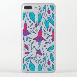 Fuchsia Fantasy Clear iPhone Case