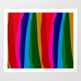 RAINBOW STRIPES Abstract Art Art Print