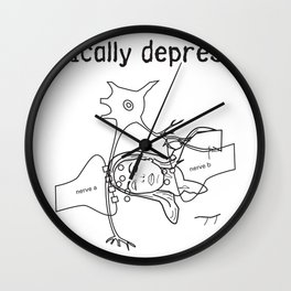 clinically depressed Wall Clock