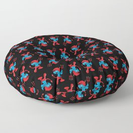 The Little Blue Devil Floor Pillow