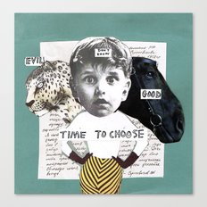 Time to choose (collage) Canvas Print