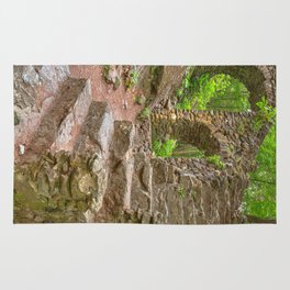 Forest Castle Ruins Rug