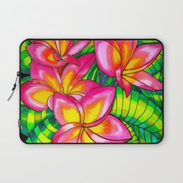 Pink Plumeria on Silk Laptop Sleeve
