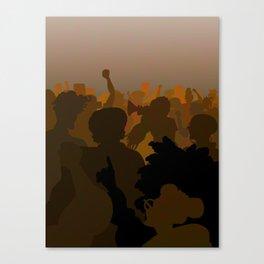 Women Marching (Chocolate Version) Canvas Print