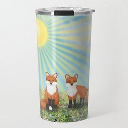 2 foxes Travel Mug