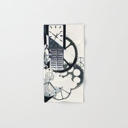 Poster sketch on a clock theme. Hand & Bath Towel