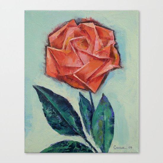 Origami Rose Canvas Print