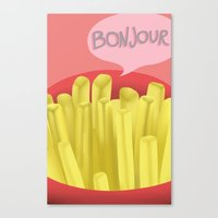 french fries Canvas Prints featuring French Fries by Elisehill3