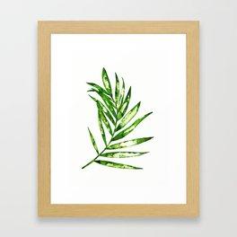 Green ink painting - fern Framed Art Print