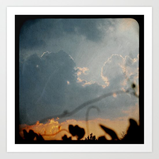 Vines and Clouds Art Print