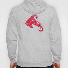 Scarlet tigers on lotus flower field. Hoody