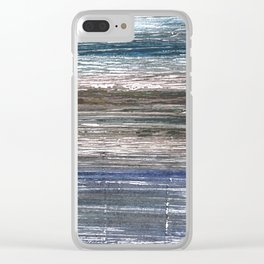 Black Coral abstract watercolor Clear iPhone Case