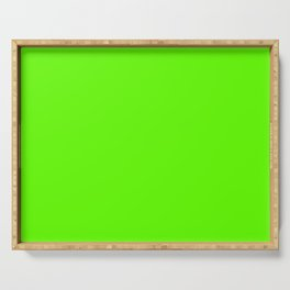 fluorescent neon green | solid colour Serving Tray