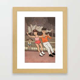 Skating Framed Art Print