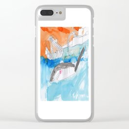 Shark Watch Clear iPhone Case