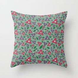 Magenta and Violet Bugambilia Throw Pillow