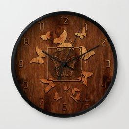 Butterfly Wood decor Wall Clock
