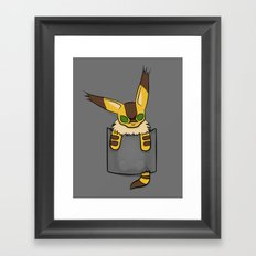 Pocket Teto (Fox Squirrel) Framed Art Print